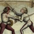 """Несмотря на то что огромное разнообразие и рубящих, и колющих мечей в мире подтверждает важность и тех и других в фехтовании, существует распространенный миф о превосходстве острия перед лезвием в фехтовании, преимущественно в Европейском фехтовании. Однако, за несколькими исключениями, до начала 18го века спора """"колющее против рубящего"""" не было среди западных мечников."""